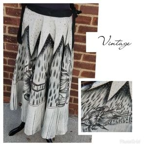 Vintage Mexican wedding skirt M